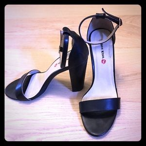 Hot Kiss - Black Strappy Heels - Sandals